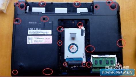 三星300e4c-s09笔记本拆机清理灰尘图解